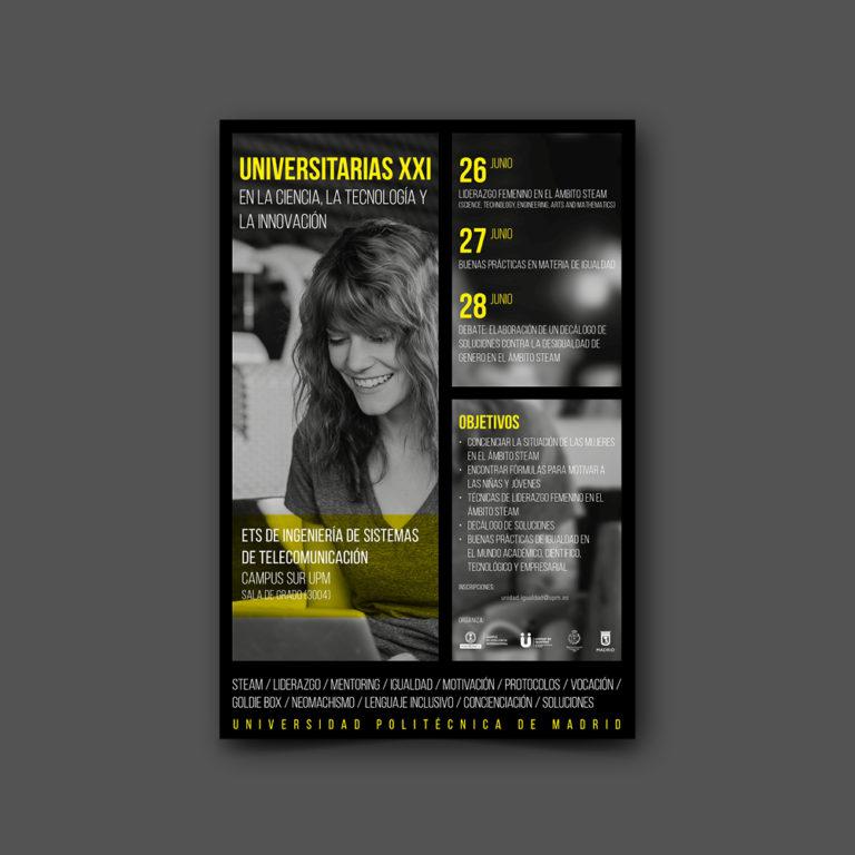 diseño gráfico cartel universitarias