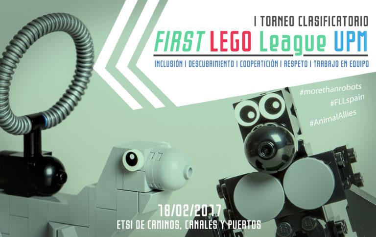diseño gráfico banner first lego league