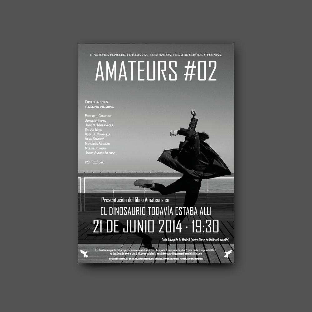 diseño gráfico cartel presentación libro amateurs