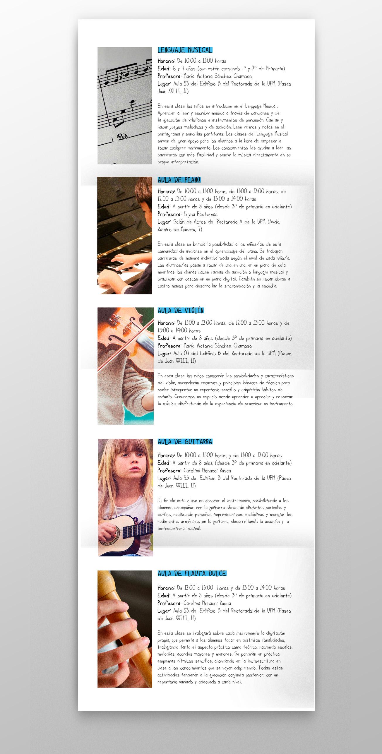 diseño gráfico folleto sábados didácticos