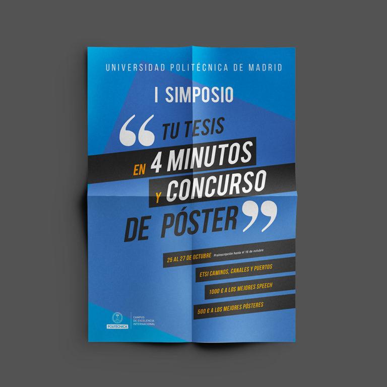 diseño gráfico folleto tesis 4 minutos