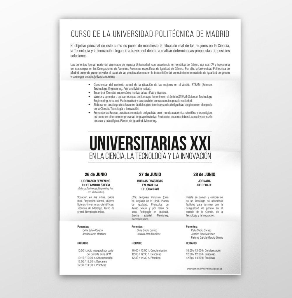 diseño gráfico folleto universitarias