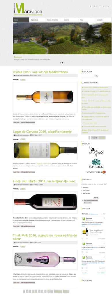 diseño web marevinea mundo vino