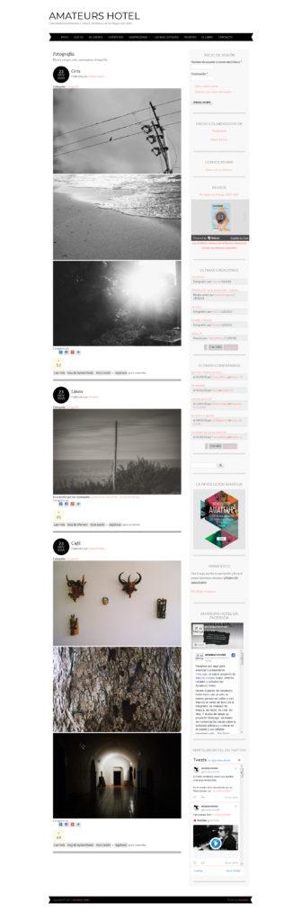 diseño web amateurshotel