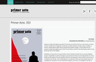 diseño web primer acto revista teatral